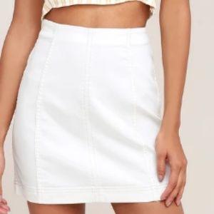 Free people white skirt
